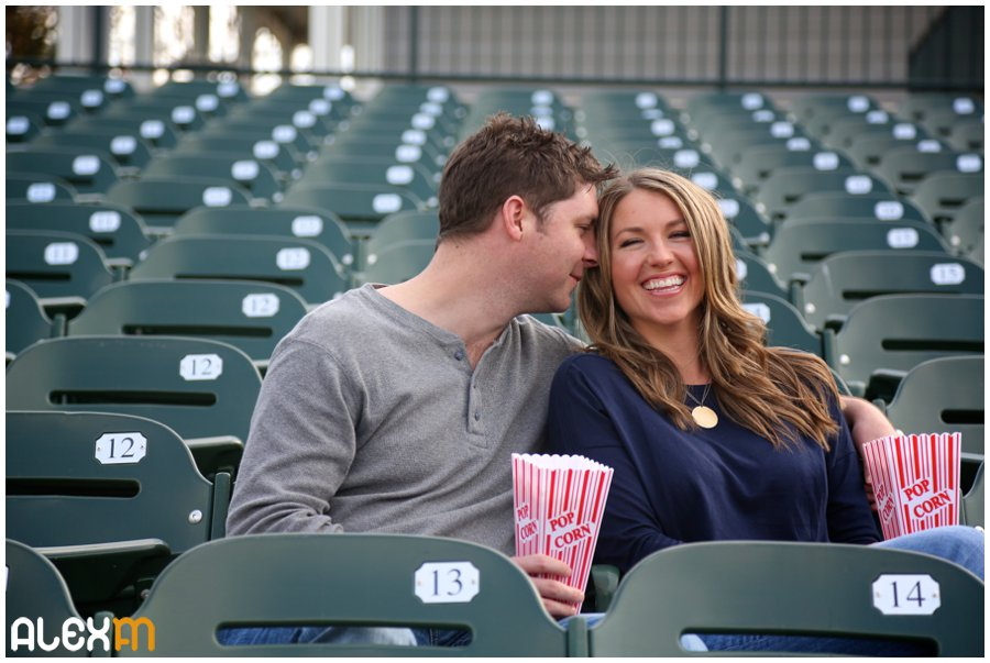 Frisco Rough Riders Engagement Photography | Lindsey & Jim