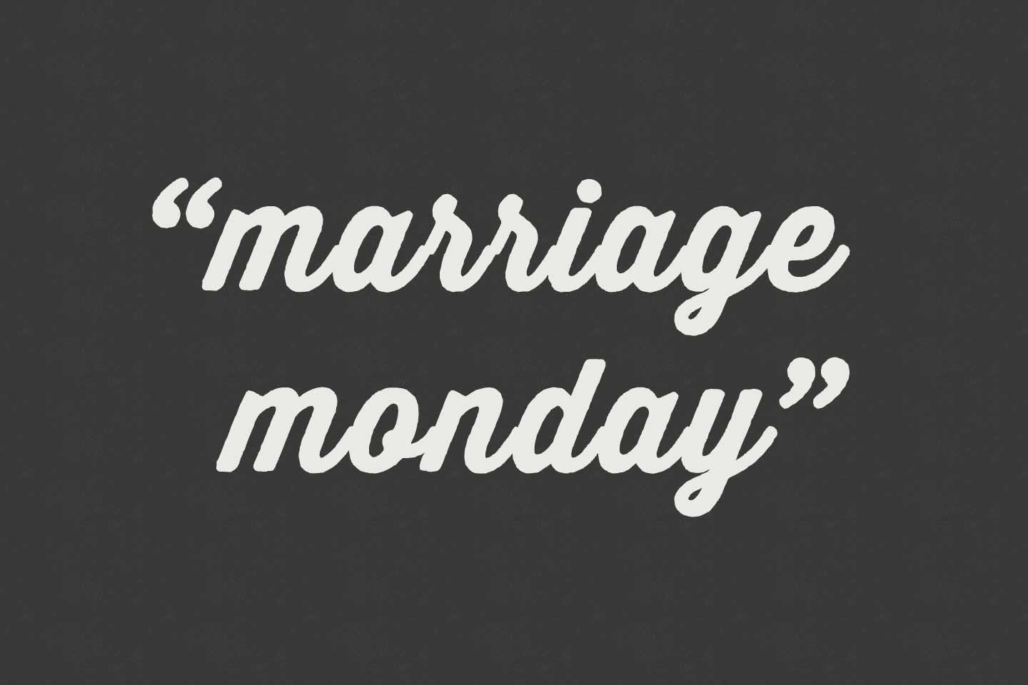 11217Marriage Monday | Same Person