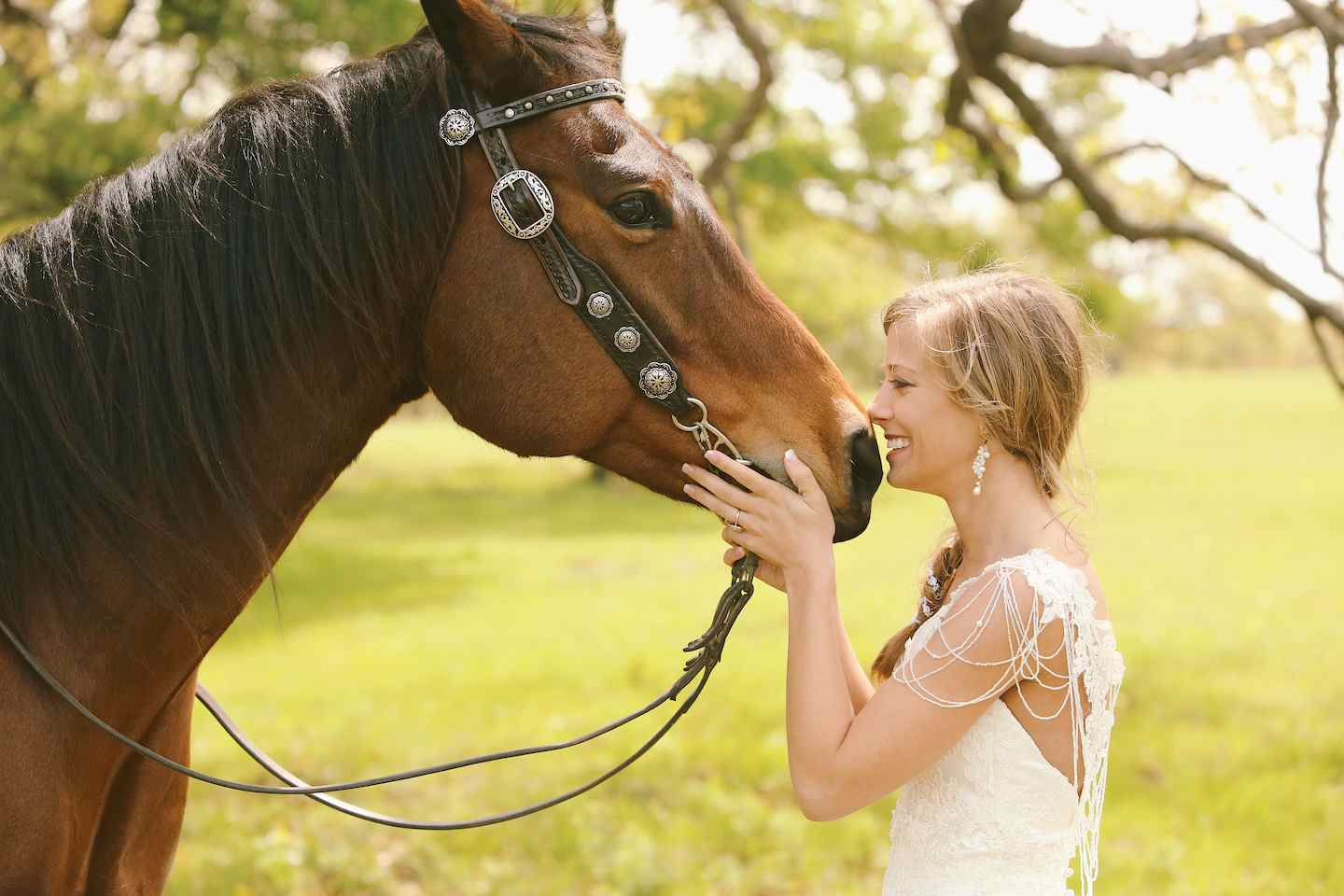12087A girl & her Horse