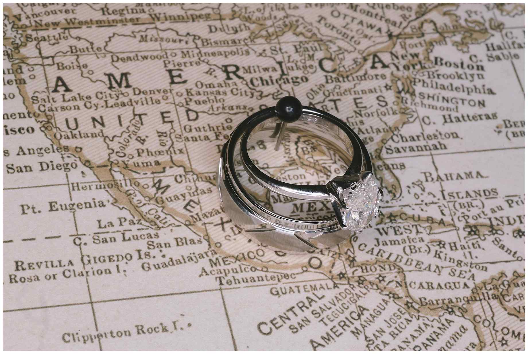 Top   Wedding Rings AlexM Photography - Chicago map ring
